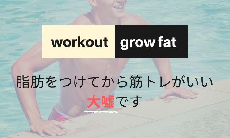 脂肪をつけてから筋トレした方がいい←大嘘です